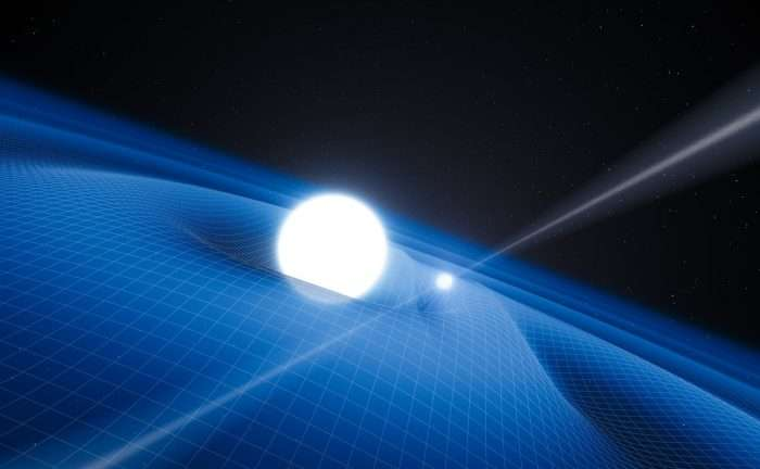 A pulsar and white dwarf dance together in a surprising orbit