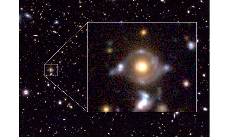 Astronomers find new, ancient source of gravitational lensing