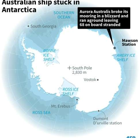 Australian ship stuck in Antarctica
