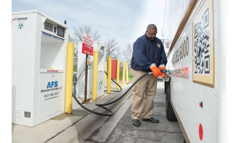 Bakery switches to propane vans