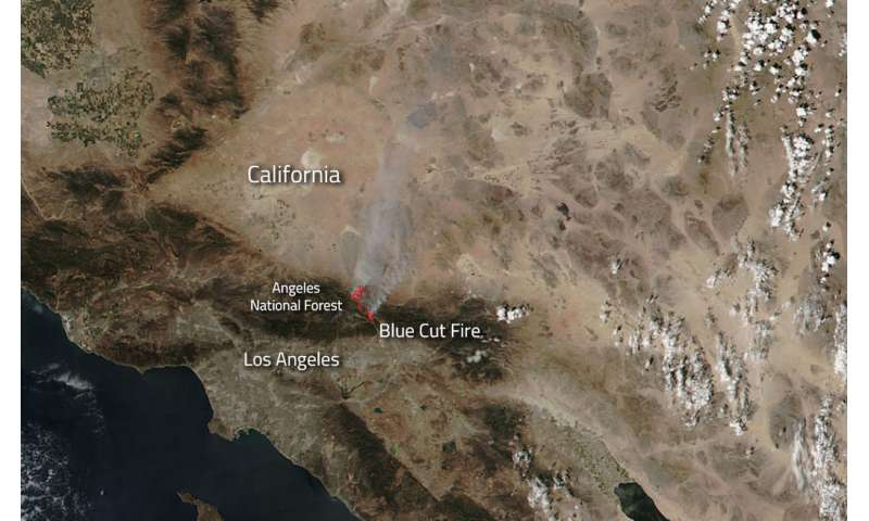 Blue Cut Fire in California spreads quickly
