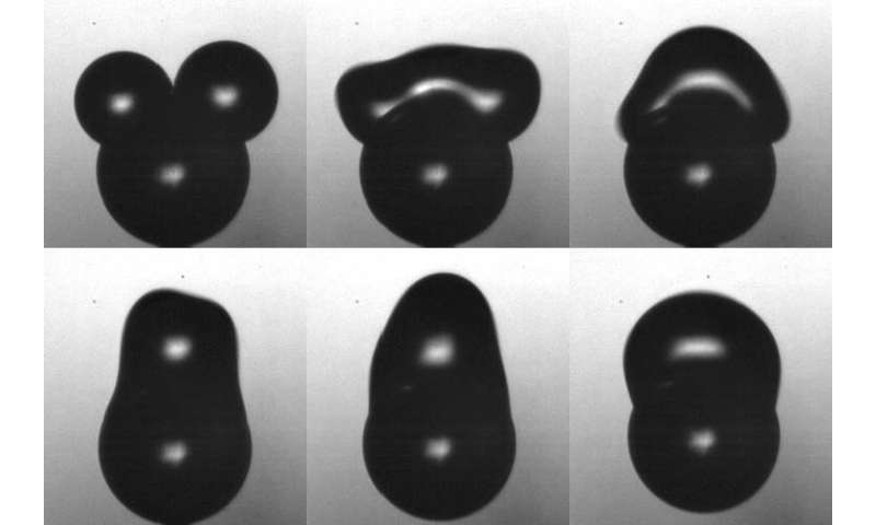 Bouncing droplets remove contaminants like pogo jumpers