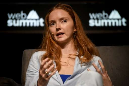 British model, actress and founder of Impossible Lily Cole attends a talk at the Future Societies stage  during the Web Summit a