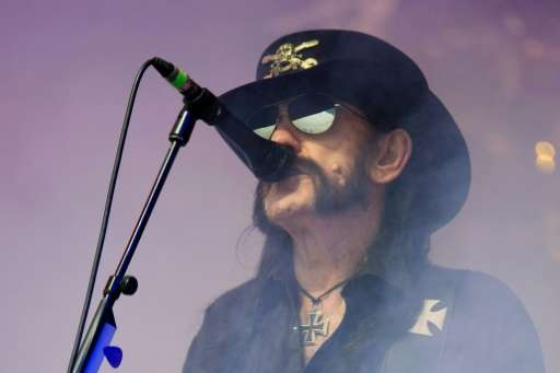 "British rock band Motorhead's lead singer Ian ""Lemmy"" Kilmister performs on June 26, 2015"