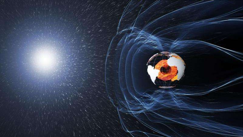 Changes in strength of Earth's magnetic field mapped