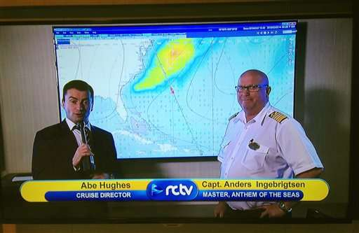 Cruise ship that was damaged in storm turns around again