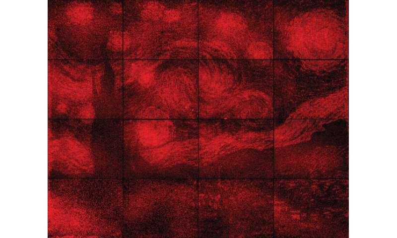DNA origami lights up a microscopic glowing Van Gogh