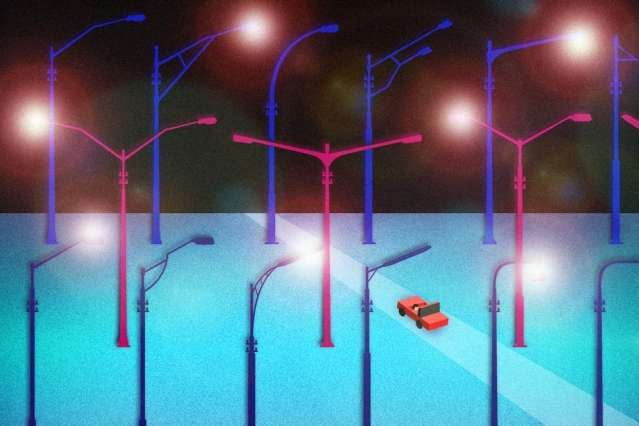 Drive-by monitoring for urban streetlights