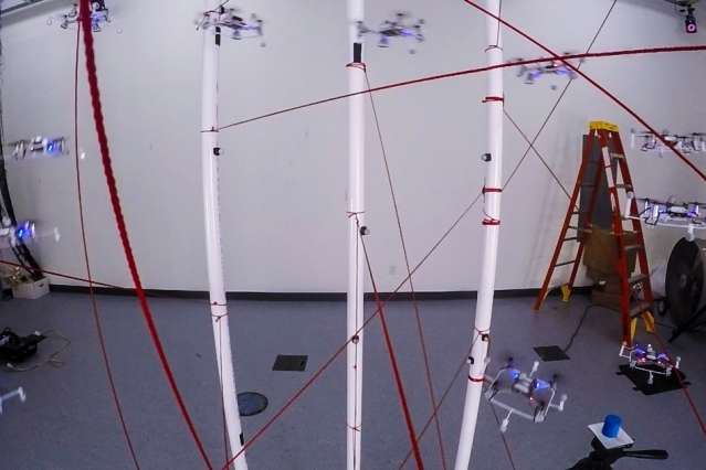 Drones do donuts, figure-eights around obstacles
