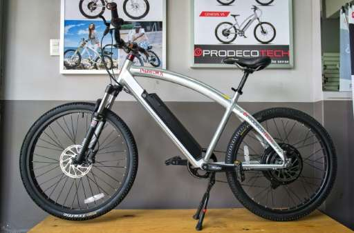 "Electric bicycles, such as the ""PhantomX"" pictured here, can reach 32km per hour"