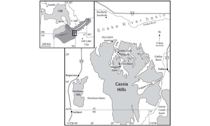 Evidence in the Cassia Hills of Idaho reveals 12 catastrophic eruptions