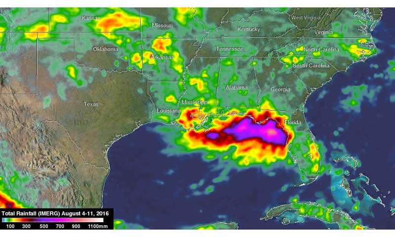 Extreme rainfall along gulf coast measured by NASA's IMERG