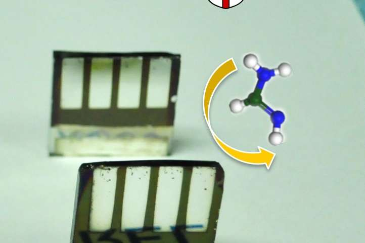 Flipping a chemical switch helps perovskite solar cells beat the heat