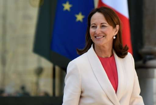 French Minister of the Environment, Energy and Marine Affairs Segolene Royal leaves after attending the council of ministers at