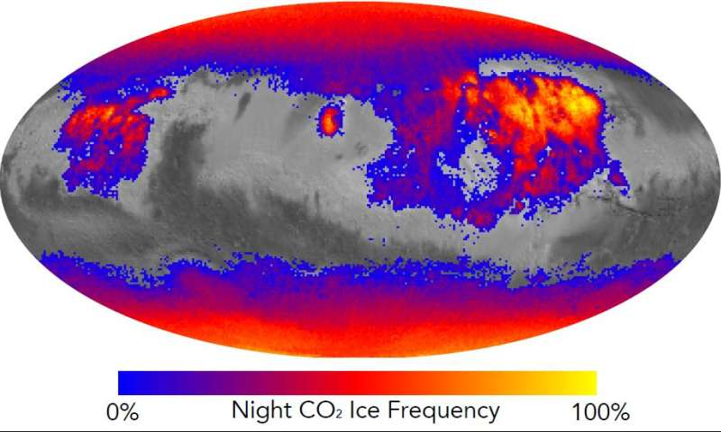 Frosty Cold Nights Year-Round on Mars May Stir Dust