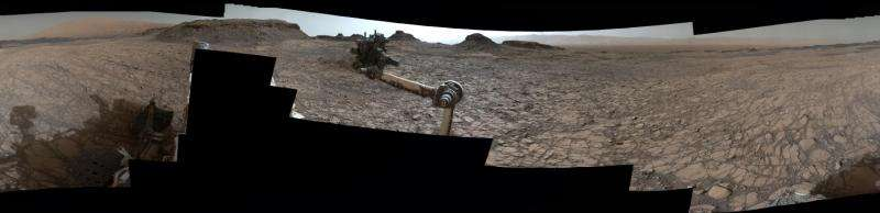 Full-circle vista from NASA Mars rover Curiosity shows 'Murray Buttes'