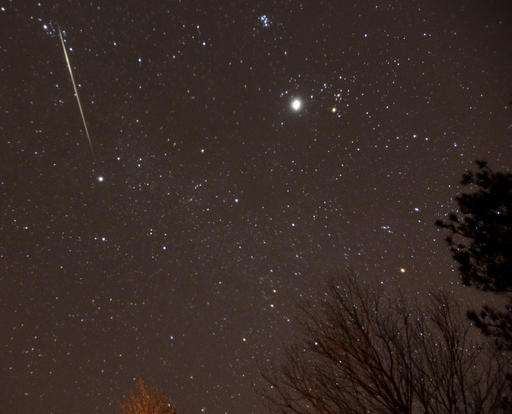 Geminids meteor shower peaks Tuesday amid full moon
