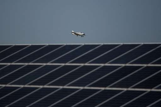George airport's 2,000 solar panels produce up to 750 kW every day, easily surpassing the 400 kW needed to run the facility