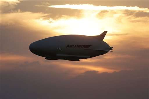 Giant helium-filled airship Airlander takes off for first time