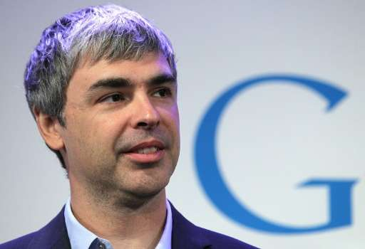 Google co-founder and CEO Larry Page speaks during a news conference at the Google offices on May 21, 2012 in New York City