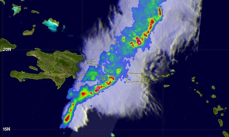GPM measures deadly flooding rainfall in Haiti and the Dominican Republic