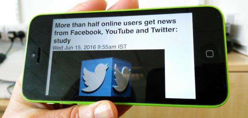 Half of online users get news from Facebook and other social platforms