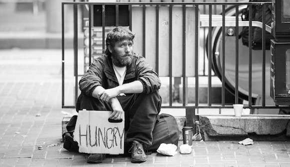 Homeless Australians eat only two meals a day