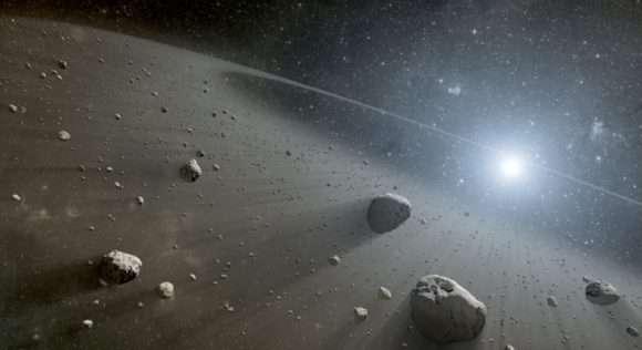 Hubble images three debris disks around G-type stars