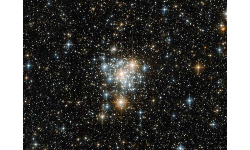 Hubble takes flight with the toucan and the cluster