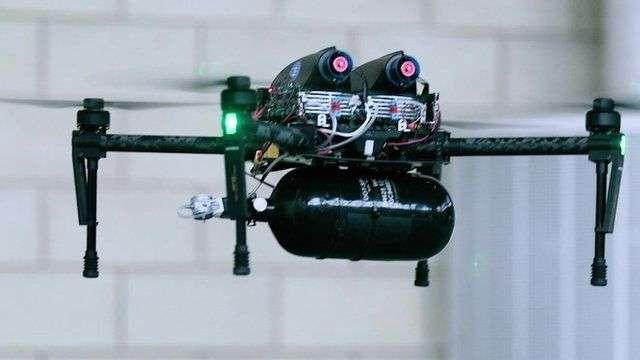 Hydrogen-fueled drone taken for test run