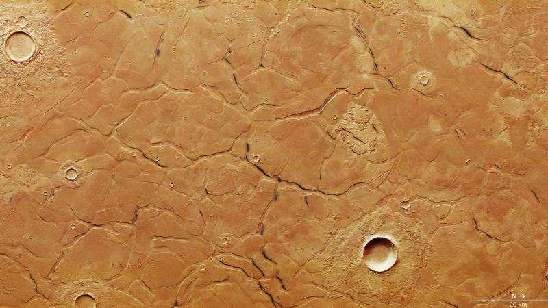Image: Adamas Labyrinthus on Mars