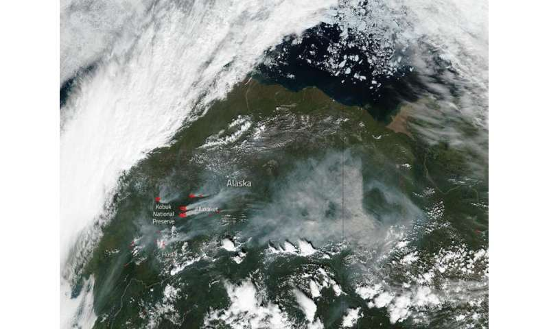 Image: Alatna wildfire complex in Alaska