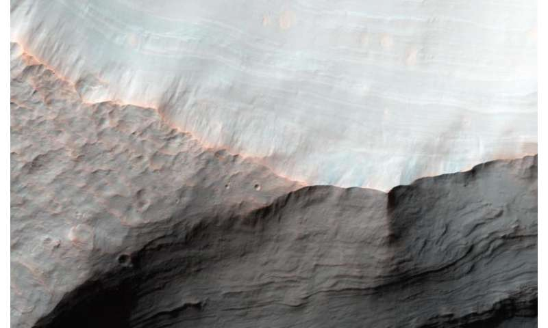 Image: Alluvial Fans in Saheki Crater, Mars
