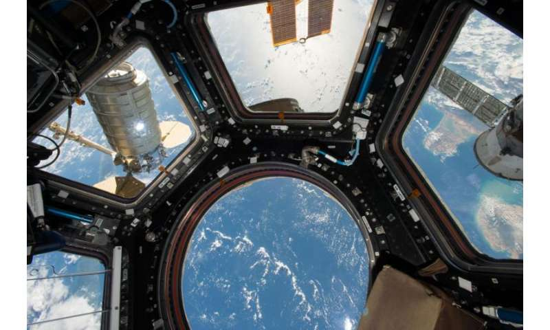 Image: Cygnus spacecraft attached to space station's Unity module