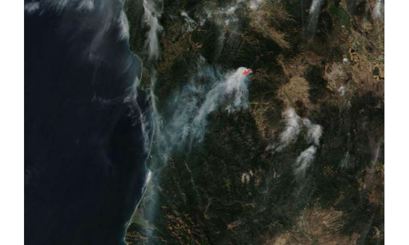 Image: Gap Fire continues in California