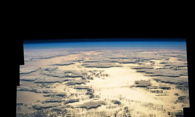 Image: Morning sunglint over the Pacific