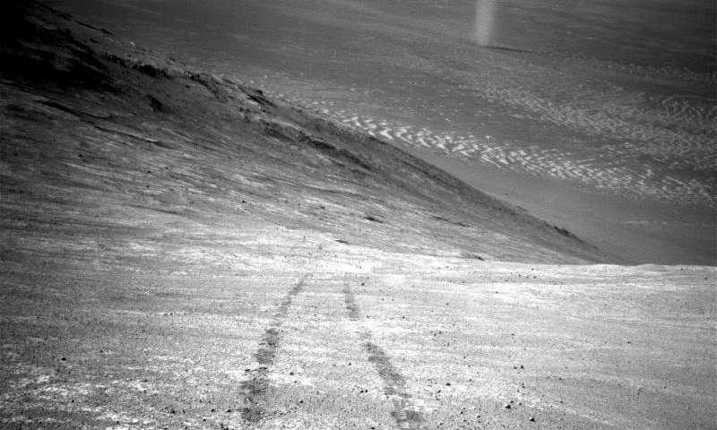 Image: Opportunity spots Knudsen Ridge dust devil
