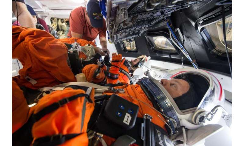 Image: Orion spacecraft suited crew testing