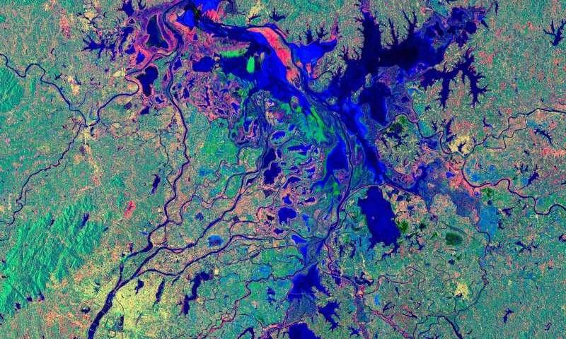 Image: Poyang Lake viewed by Sentinel-1