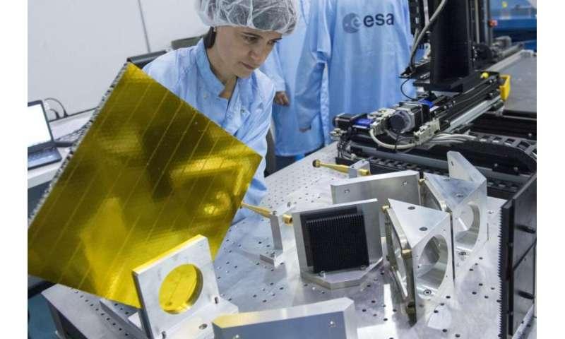 Image: RF testing of space antenna coatings