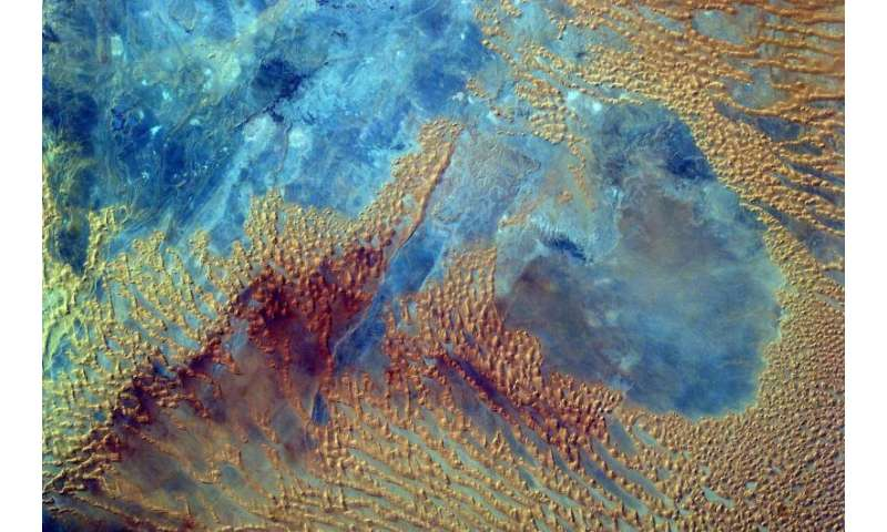 Image: Sahara desert from the space station's EarthKAM