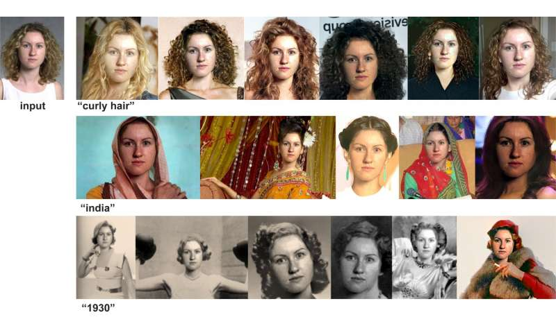 Imaging software predicts how you look with different hair styles, colors, appearances