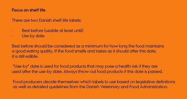 Improved knowledge of shelf life of food
