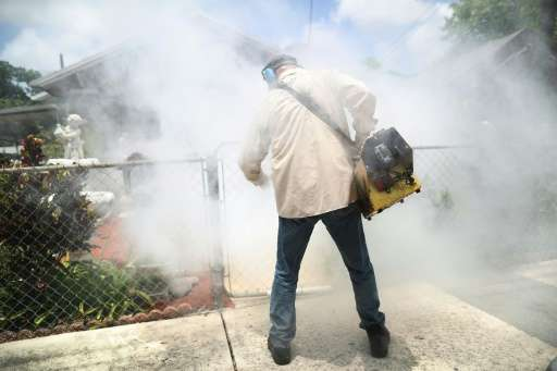 In an effort to control the spread of the mosquito-borne Zika virus, authorities over the weekend doused parts of the southeaste