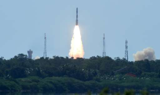 India's CARTOSAT-2 and other satellites are launched from Sriharikota in Andhra Pradesh on June 22, 2016