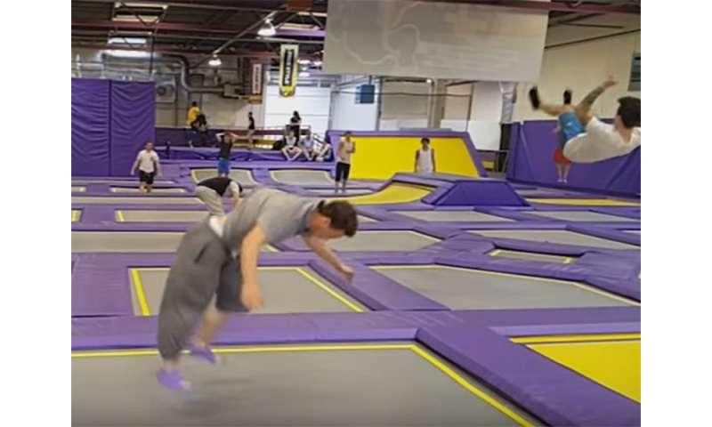 Injuries at indoor trampoline parks jump