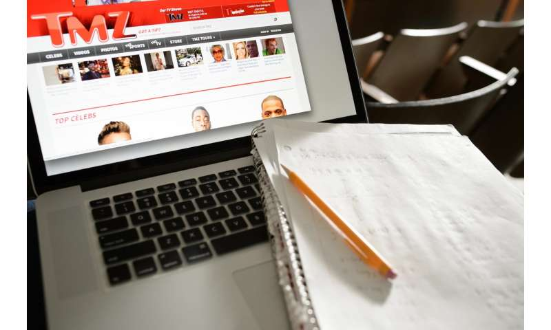 Internet use in class tied to lower test scores