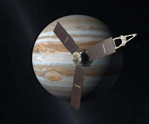Jupiter has new visitor _ a solar-powered spacecraft