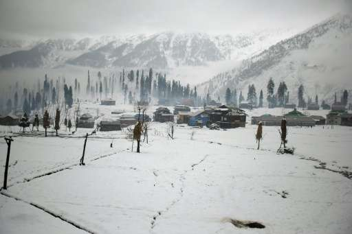 Kashmir's thick forests and soaring slopes are divided between bitter nuclear-armed neighbours Pakistan and India along the de f