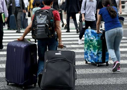 Last year, Japan drew some 19.7 million visitors, up 47 percent from a year earlier, straining hotel occupancy rates and highlig